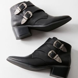 UO Black Concho Booties